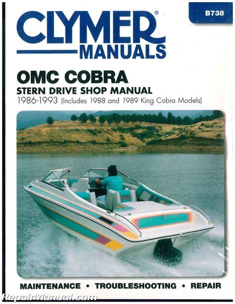 Boat Stern Repair by Clymer Omc Cobra 1986 1993 Stern Drive Boat Engine Repair