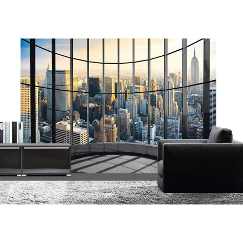 poster de mur office view deco wall l 366 x h 254 cm leroy merlin