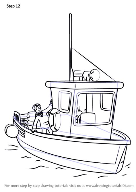 How To Draw A Cartoon Boat Step By Step by Learn How To Draw Charlie Jones Boat From Fireman Sam