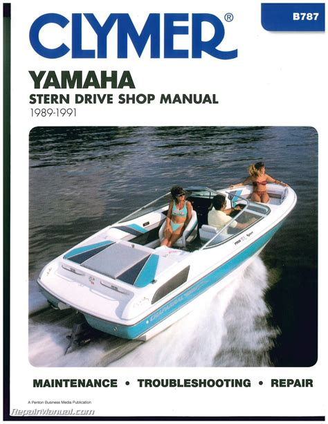 Boat Stern Repair by Yamaha Stern Drive 1989 1990 1991 Clymer Boat Engine