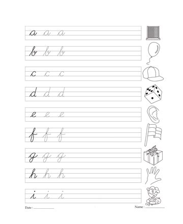 Cursive Writing Book 4 Printable Coloring Worksheet