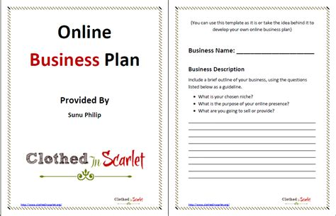 Online Business Plan Template {free Download