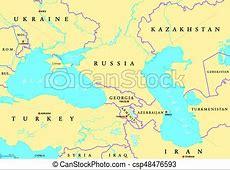 Black sea and caspian sea political map Black sea and