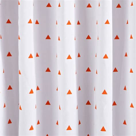 prints blue triangle blackout curtains the land