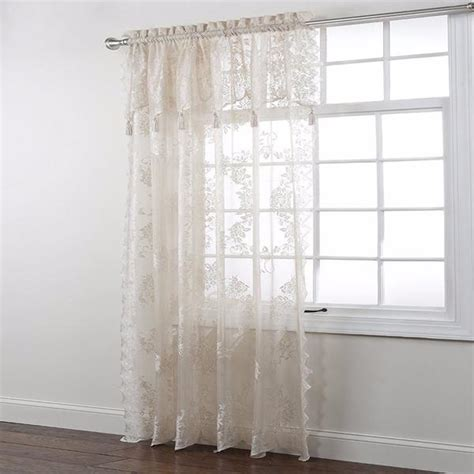 lace panel with attached valance curtainshop