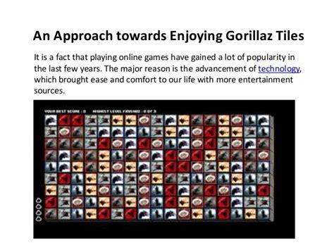 an approach towards enjoying gorillaz tiles