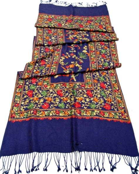 hook flower embroidery scarf buy hook flower wool scarf machine embroidery scarf