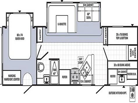 Travel Trailer Floor Plans With Bunk Beds Planning Ideas Travel Trailer Floor Plans Keystone Travel Trailer Floor Plans Lightweight