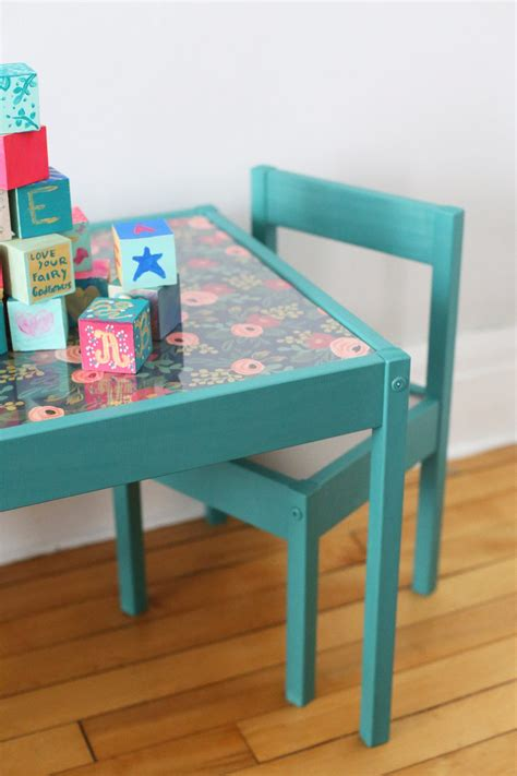 Diy Kids Table Makeover  The Sweetest Occasion. Ikea Desk Corner. Rattan Table And Chairs. Rustic Kitchen Tables. Ikea Hacks Desk. 6 Foot Plastic Folding Table. Triangle End Table. Computer Desk For Teenager. Loft Bed With Steps And Desk