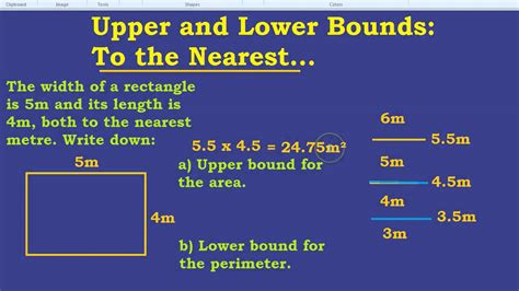 bound and lower bound to the nearest