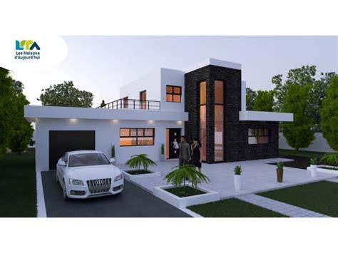 plan maison contemporaine 161m2 5 pi 232 ces 4 chambres garage