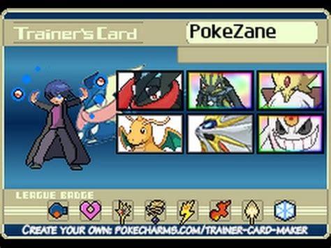 Pokemon Trainer Card Maker!!! Gen17?! Youtube