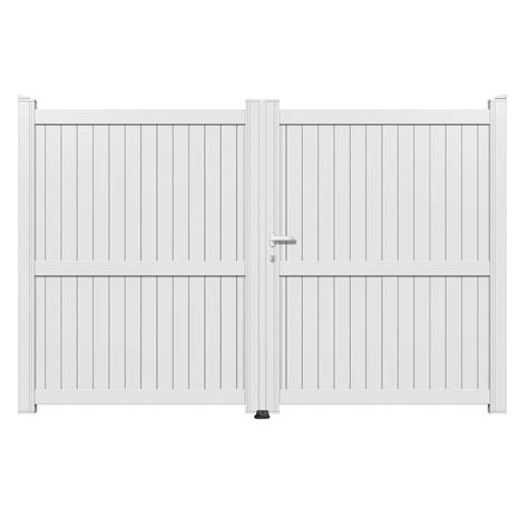 portail battant aluminium matisse blanc primo l 300 x h 180 cm leroy merlin