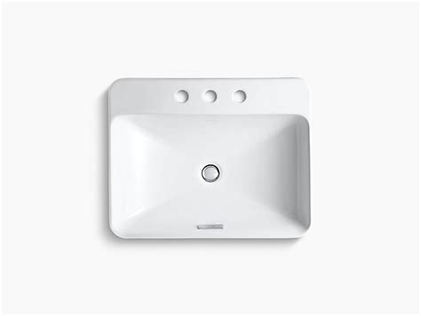 Kohler Vox Sink Template by K 2660 8 Vox Rectangle Vessel Sink With 8 Inch Centers