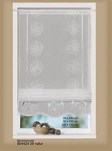 Raffrollo 40 Cm : raffrollo b ndchenrollo rollo bestickt voile 80x150cm ecru gardinen fertiggardinen raff ~ Markanthonyermac.com Haus und Dekorationen
