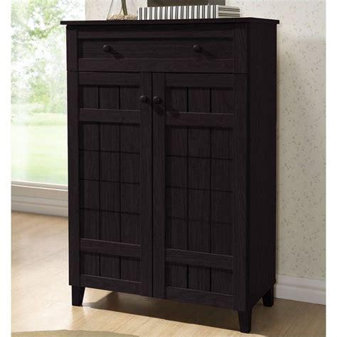 baxton studio glidden shoe cabinet in brown 504053