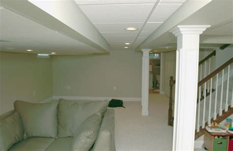 basement drop ceiling finished basement with drop ceiling stairs and bathroom for the home