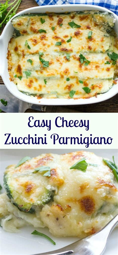Easy Cheesy Zucchini Parmigiano, A Delicious Healthy Side