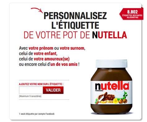 nutella lance des pots personnalis 233 s avec votre pr 233 nom golem13 fr golem13 fr