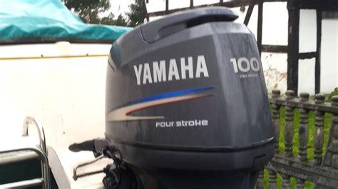 Yamaha Outboard Motor Videos by Yamaha F100 Hp Outboard Motor 2004r Four Stroke 4 Suw