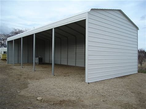 sheds and building on