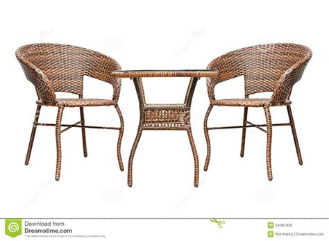 Rattan Coffee Table Set Royalty Free Stock Image   Image: 34487826