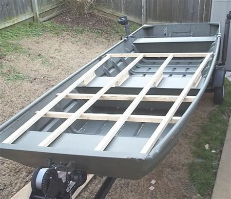 get how to build a platform in a jon boat junk