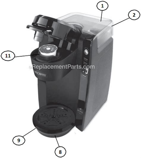 Mr. Coffee BVMC KG5 Parts List and Diagram : eReplacementParts.com