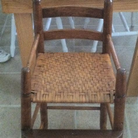re caned baby high chair recaning