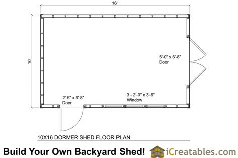 10x16 shed floor plans 10x16 shed plans with dormer icreatables
