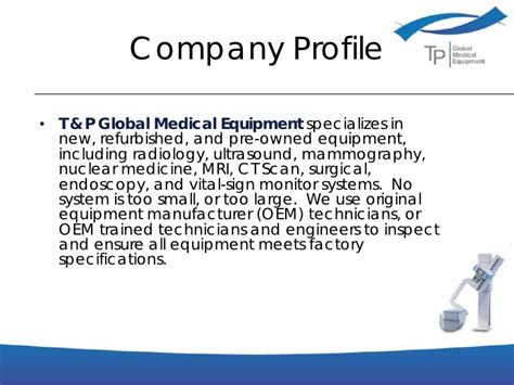 Business Presentation Tp Global Medical Equipment