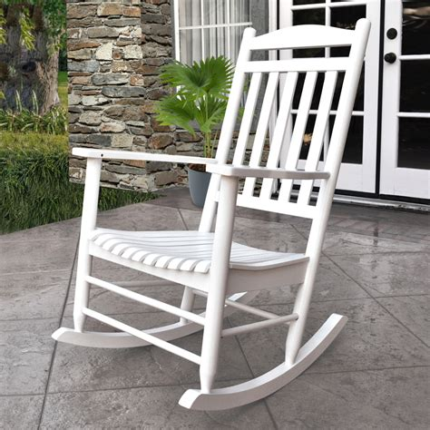 shop shine company maine white composite patio rocking chair at lowes