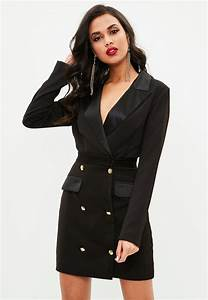 Lyst - Missguided Tall Black Tuxedo Dress in Black