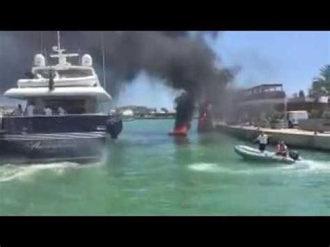 Fire Boat Ibiza by Fire On A Boat Marina Ibiza Youtube