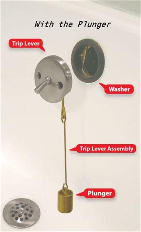 bathtub trip lever drain replace moen tub push n lock with trip lever drain