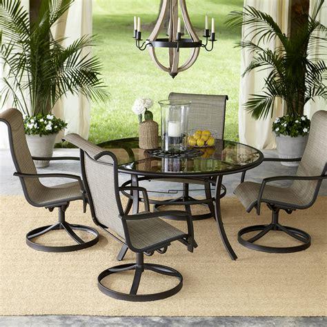 garden oasis providence 5 swivel dining set
