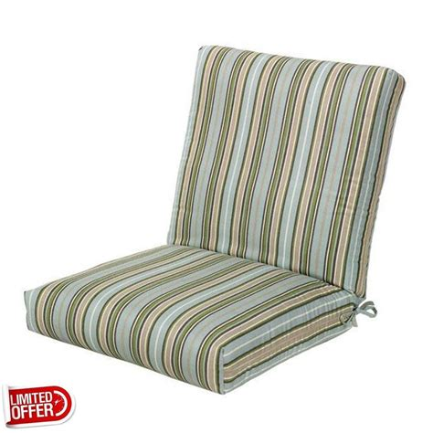 sale cilantro stripe sunbrella outdoor chair cushion dining cushions 22 inch ebay