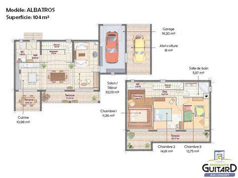 plan maison moderne toit plat plain pied maison moderne