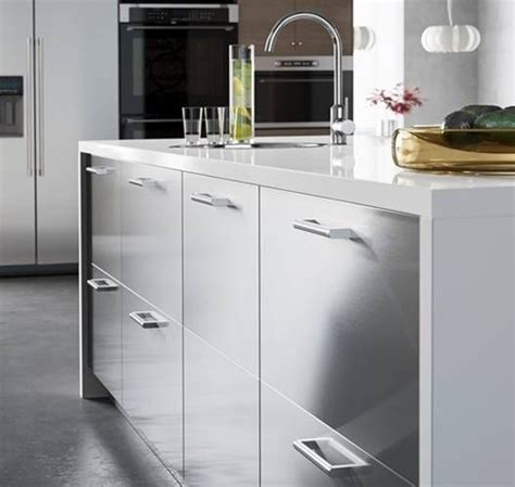 prep in style with a spacious ikea kitchen island with stainless steel grevsta drawers