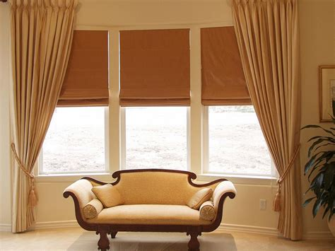 Home Curtain : Bay Window Curtains Ideas For Privacy And Beauty