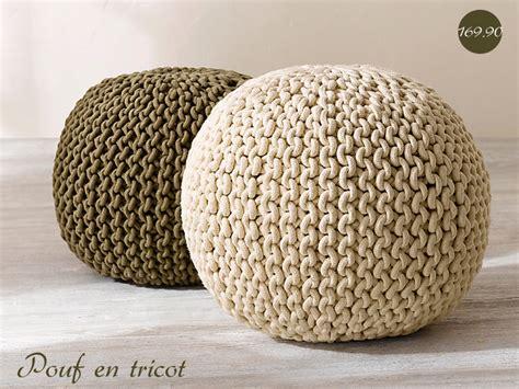 tricoter un pouf