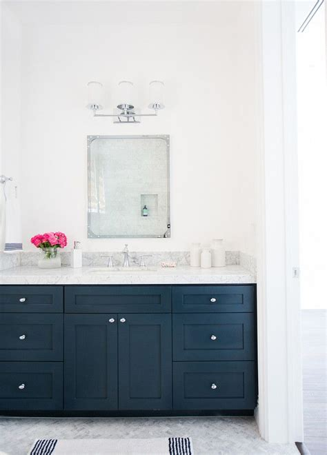 25 best ideas about blue vanity on blue cabinets navy blue bathrooms and cottage