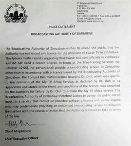 Full BAZ statement declaring Kwese TV license 'cancelled ...