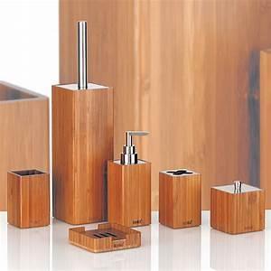 Bad Set Holz : badset wc b rste garnitur becher seifenspender seifenschale bambus papierhalter ebay ~ Markanthonyermac.com Haus und Dekorationen