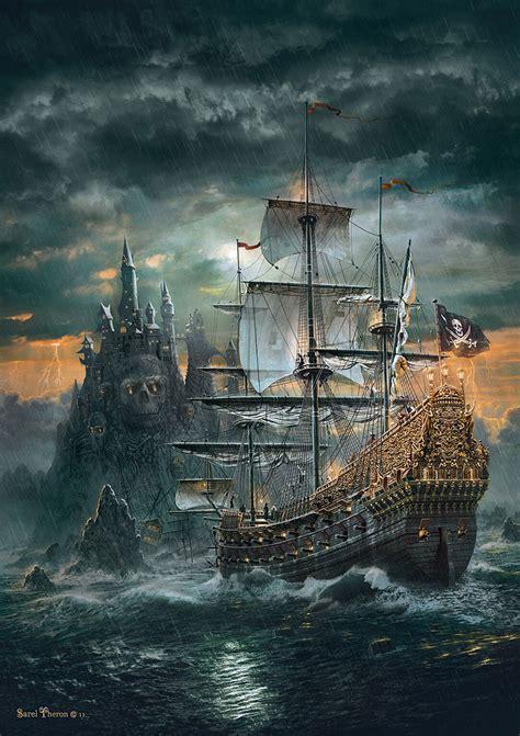 Schip Puzzel the pirate ship jigsaw puzzle puzzlewarehouse