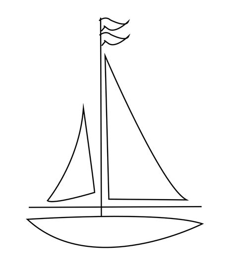 Cartoon Drawing Of A Boat by Sailboat Clipart Black And White Clipground