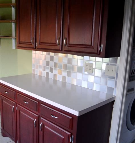 Contact Paper 'tiled' Backsplash  My Goal Is Simple