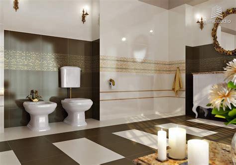 salle de bain design or blanc marron d 233 coration maison