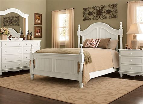 willow point 4 pc bedroom set white raymour