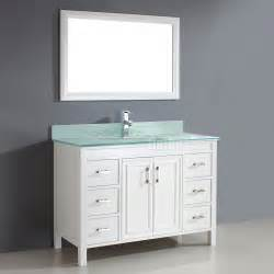 studio bathe corniche 48 inch bathroom vanity white finish solid hardwood construction six drawers